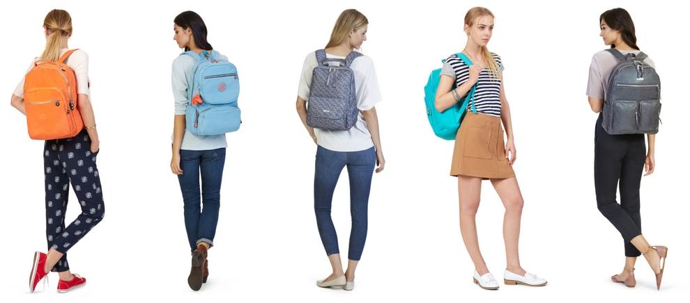 Разнообразные женские рюкзаки
