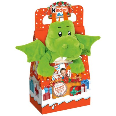 Новогодний набор Kinder Mix Plush Дракон 137,5 г