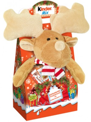 Новогодний набор Kinder Mix Plush Лосенок 137,5 г