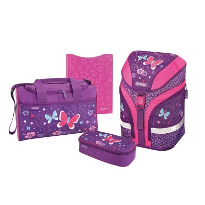Ранец Herlitz 50013654 Motion Plus Purple Butterfly с наполнением