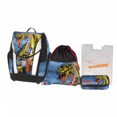 Школьный ранец Schneiders Toolbag Soft Wild Dragon 78417/70 с наполнением